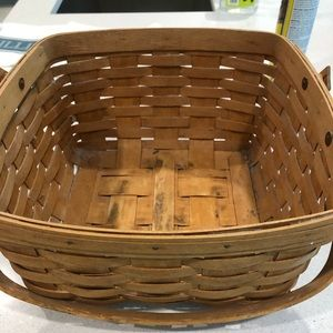 Longaberger Woven Basket with handle.